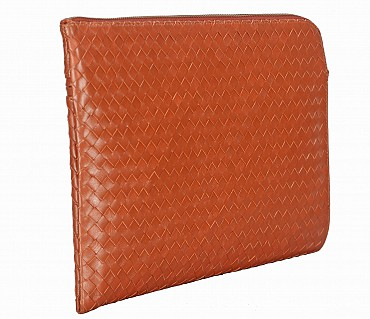 F58-Thomas -Folder for documents in Genuine Leather - Tan