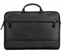 Leather Portfolio / Laptop Bag(Black)F68