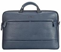 Leather Portfolio / Laptop Bag(Blue)F68