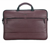 Leather Portfolio / Laptop Bag(Wine)F68