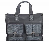 Leather Portfolio / Laptop Bag(Blue)F69