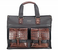 Leather Portfolio / Laptop Bag(Brown)F69