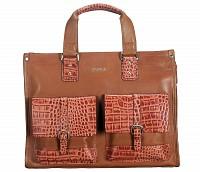 Leather Portfolio / Laptop Bag(Tan)F69