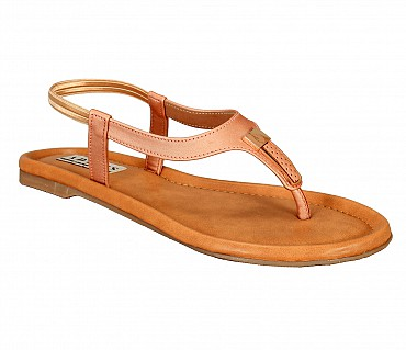 FF1-Adamis flat heels with back strap comfort wear in pink color- - Pink.