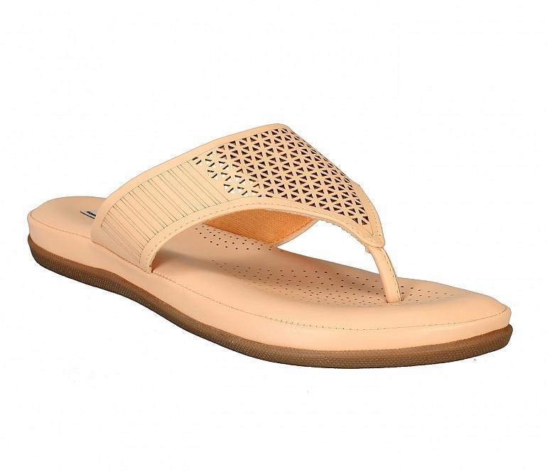 FF2-Adamis flat heels comfort wear slip on sandal in blue color- - Beige