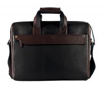 Henry Leather Portfolio / Laptop Bag(Black/Brown)LC27