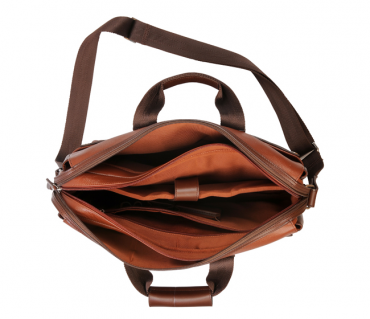 LC27-Henry-Laptop office executive bag in Genuine Leather - Tan/Brown