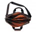Portfolio / Laptop Bag-Henry-Laptop office executive bag in Genuine Leather - Black/Brown