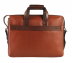 Portfolio / Laptop Bag-Henry-Laptop office executive bag in Genuine Leather - Tan/Brown