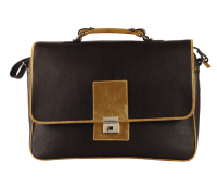 Joseph Leather Portfolio / Laptop Bag(Brown/Tan)LC28