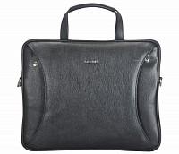 Ramon Leather Laptop Sleeve / Folder(Black)LC39