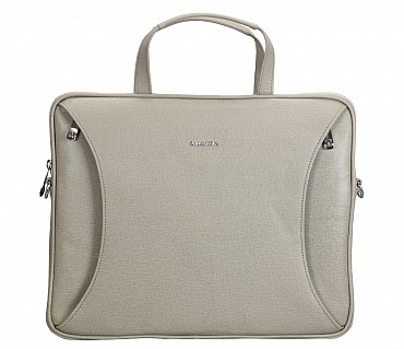 LC39-Ramon-Laptop slim messenger bag in Genuine Leather - Tope