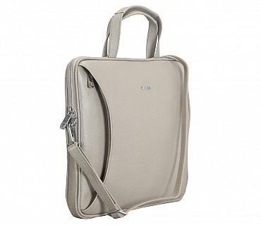 LC39-Ramon-Laptop slim messenger bag in Genuine Leather - Tope