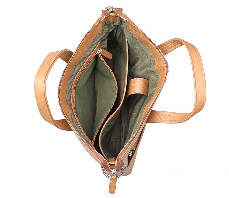 LC42-Rogelio-Laptop, portfolio office executive bag in Genuine Leather - Tan