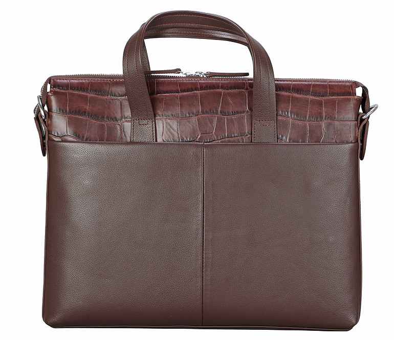 LC42-Rogelio-Laptop, portfolio office executive bag in Genuine Leather - Wine