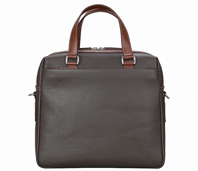 LC43-Danialo-Laptop, portfolio office executive bag in Genuine Leather - Brown