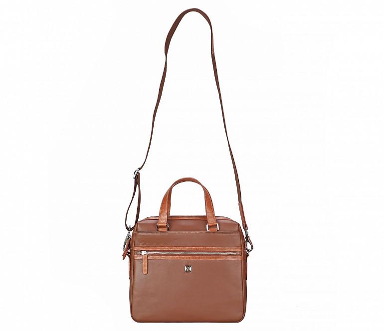 LC43-Danialo-Laptop, portfolio office executive bag in Genuine Leather - Tan