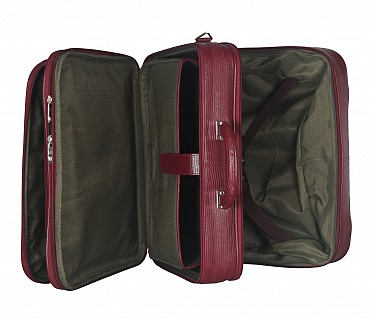 LC8-Celino-Business cum travel cabin luggage strolley in Genuine Leather - Wine