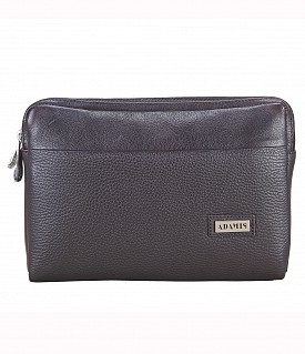 P20-Fernando-Men's bag cum travel pouch in Genuine Leather  - Brown