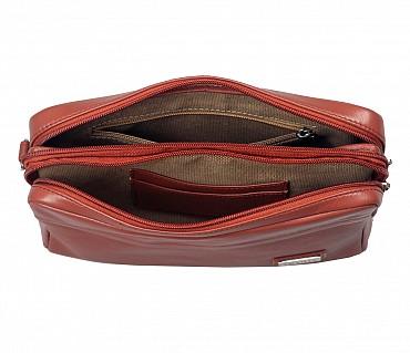 P20-Fernando-Men's bag cum travel pouch in Genuine Leather  - Tan