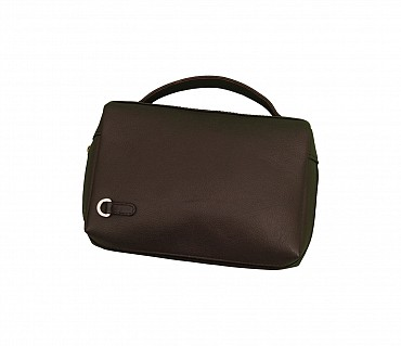 P21-Hayden-Men's bag cum travel pouch in Genuine Leather  - Black