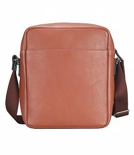 P29-Stephano-Messenger Sling cross body bag in Genuine Leather - Tan