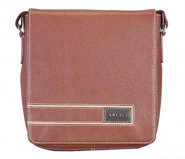 P33-Aldo-Messenger Sling cross body bag in Genuine Leather - Tan