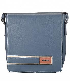P33-Aldo-Messenger Sling cross body bag in Genuine Leather - Denimblue