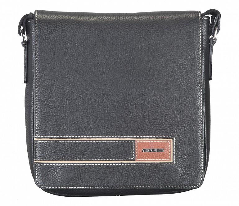 P33-Aldo-Messenger Sling cross body bag in Genuine Leather - Black
