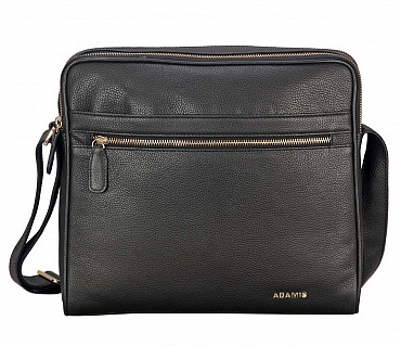 P37-Dwayne-Men's travel pouch in Genuine Leather - Black