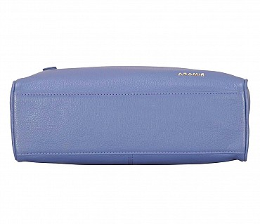 P37-Dwayne-Men's travel pouch in Genuine Leather - Blue