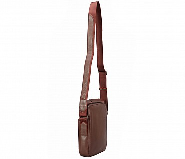 P38-Rafael-Men's travel pouch in Genuine Leather - Brown