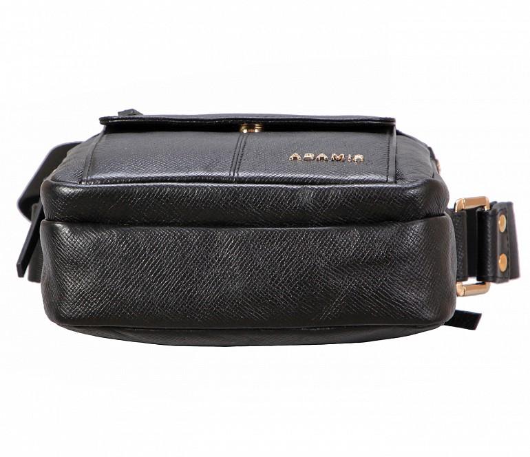 P39-Lorenzo-Men's travel pouch in Genuine Leather - Black