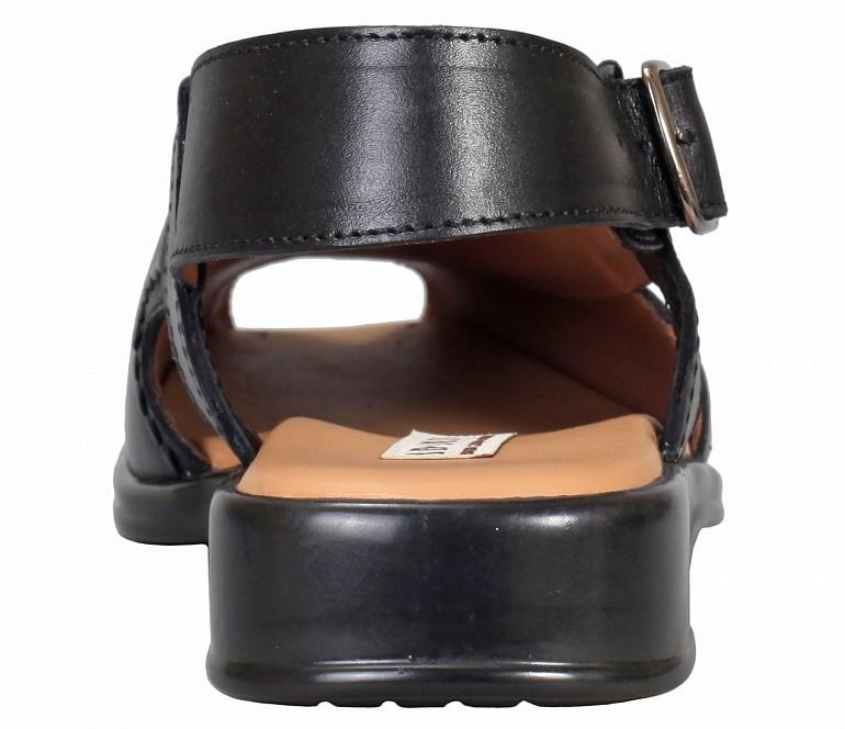 PF31-Adamis Black Color Pure Leather Footwear For Men- - Black