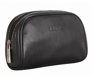 SC4S--Unisex Wash & Toiletry travel Bag in Genuine Leather - Black