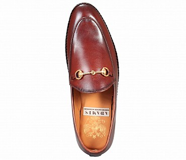 SG3-Adamis Brown Color Pure Leather Footwear For Men- - Brown