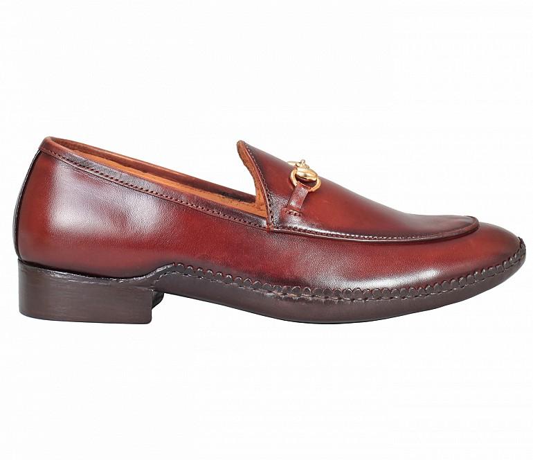SG3-Adamis Brown Color Pure Leather Footwear For Men- - Brown