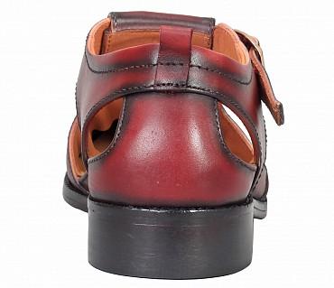 SG4-Adamis Black Color Pure Leather Footwear For Men- - Brown