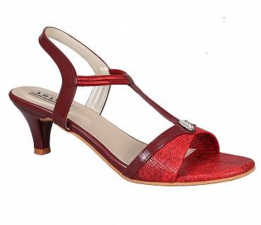 SS4-Adamis stilettos heels with back strap comfort wear slip on sandal in wine color- - Wine