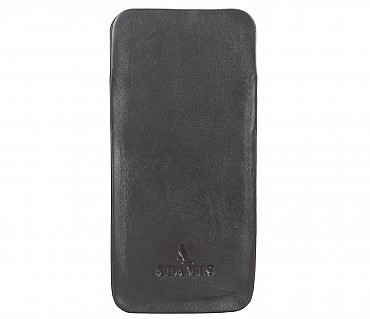 VW11--Soft stitch free spectacle case in Genuine Leather - Brown