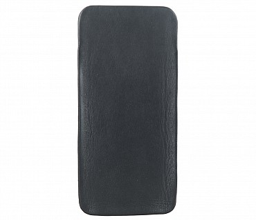 VW11--Soft stitch free spectacle case in Genuine Leather - Black