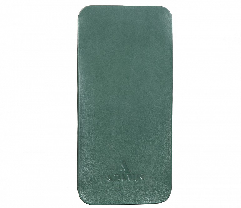 VW11--Soft stitch free spectacle case in Genuine Leather - Green