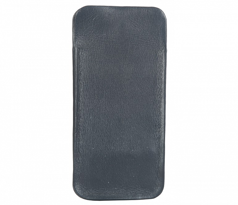 VW11--Soft stitch free spectacle case in Genuine Leather - Blue