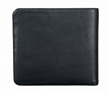 VW18-Diego-Men's bifold sleek wallet in Genuine Leather - Black