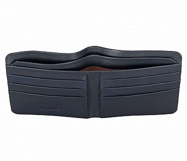 VW18-Diego-Men's bifold sleek wallet in Genuine Leather - Blue