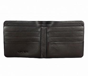 VW18-Diego-Men's bifold sleek wallet in Genuine Leather - Brown