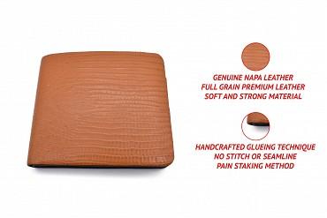 VW19-Manuel-Men's bifold wallet in genuine leather - Tan