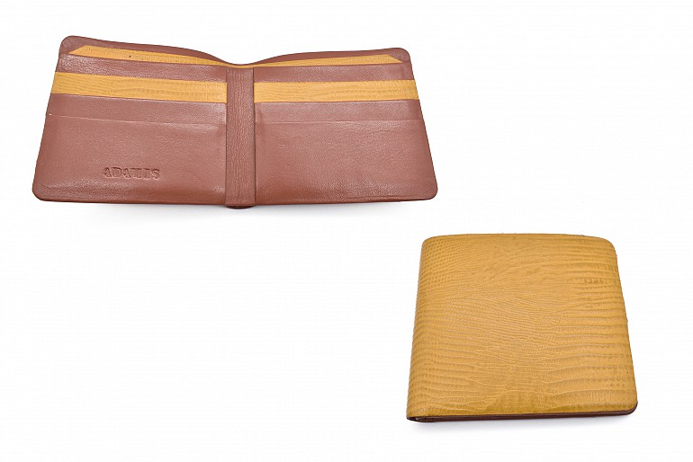 VW19-Manuel-Men's bifold wallet in genuine leather - Mustard