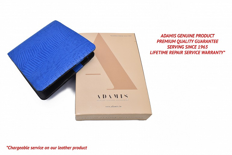 VW19-Manuel-Men's bifold wallet in genuine leather - Royalblue