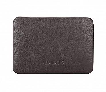 VW8--Ultra Slim card Case in Genuine Leather - Brown
